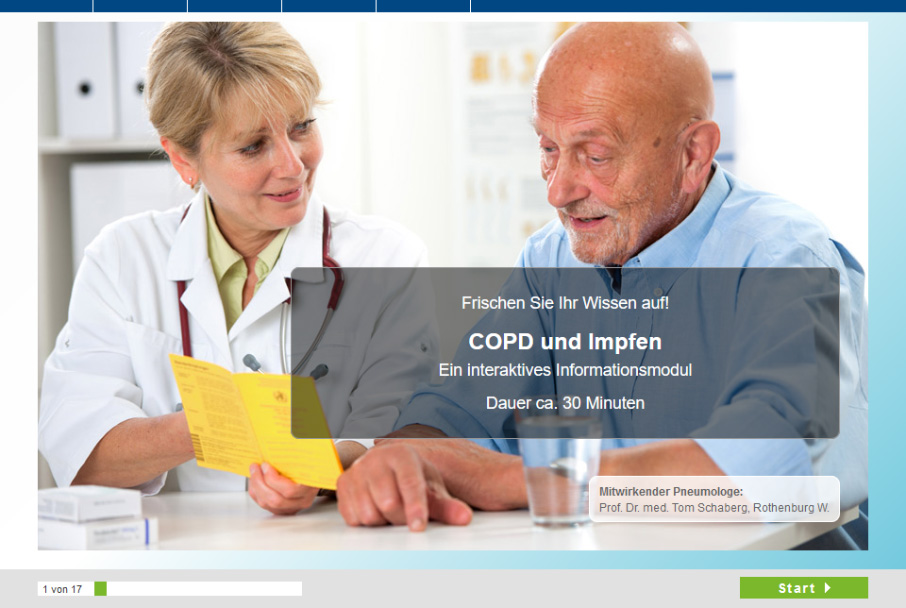 eLearning COPD-Patientenschulug